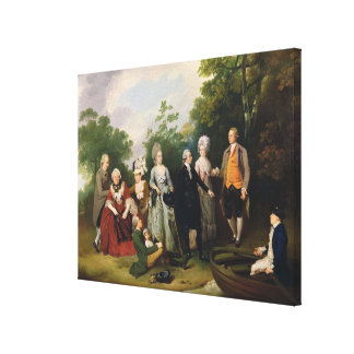 The Oliver and Ward Families in a Garden, c.1788 ( Canvas Print
