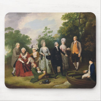 The Oliver and Ward Families in a Garden, c.1788 ( Mouse Pad