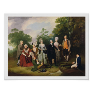 The Oliver and Ward Families in a Garden, c.1788 ( Poster