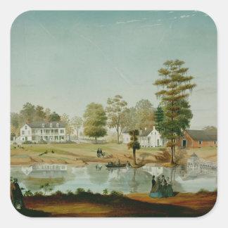 The Olivier Plantation, 1861 Square Sticker