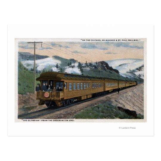 """The Olympian"" Chicago, Milwaukee, & St. Paul Postcard"
