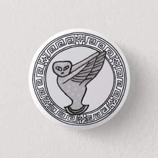 The Olympians! Athene / Minerva symbol badge Button