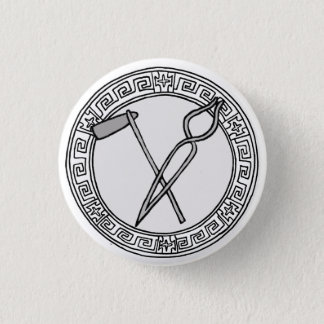 The Olympians! Hephaistos / Vulcan symbol badge Pinback Button