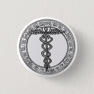 The Olympians! Hermes / Mercury symbol badge Pinback Button