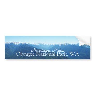 McTiffany Tiffany Aqua The Olympic Mountain Range Bumper Sticker