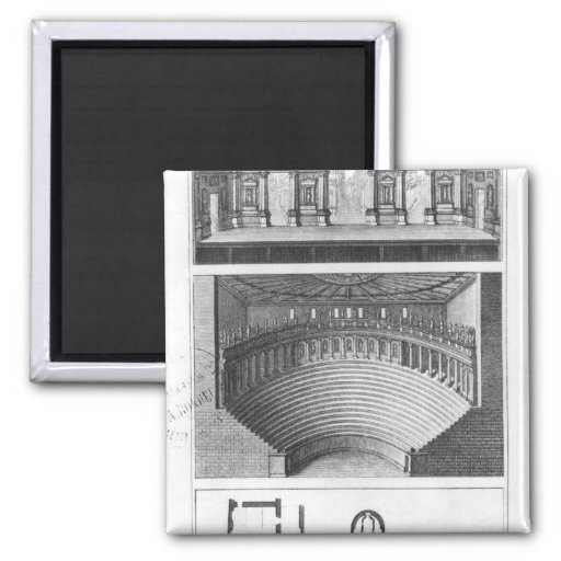 The Olympic Theatre at Vicenza 2 Inch Square Magnet