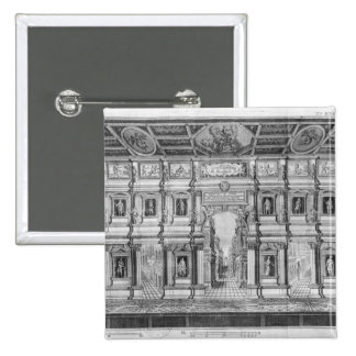The Olympic Theatre at Vicenza Pinback Buttons
