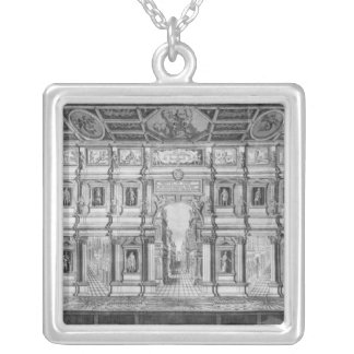 The Olympic Theatre at Vicenza Square Pendant Necklace