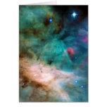 The Omega Nebula Messier 17 NGC 6618 M17 Greeting Cards