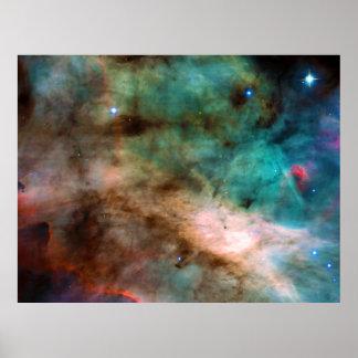 The Omega Nebula Messier 17 NGC 6618 M17 Poster