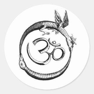 the omroboros round sticker