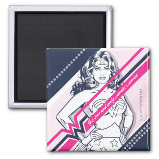 The One And Only Wonder Woman' Retro Graphic 2 Inch Square Magnet