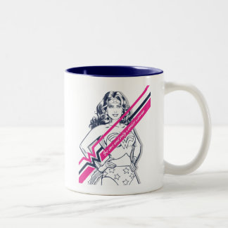 The One And Only Wonder Woman' Retro Graphic Two-Tone Coffee Mug