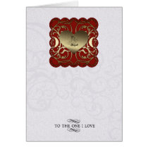 engraving, swirls, elegant, love, feelings, gold, medieval, relationship, loving, beloved, stamp, canvas, Card with custom graphic design