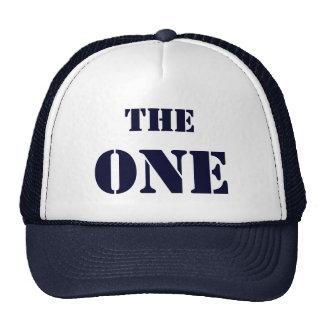 """THE ONE. La gorra del primero """"El uno"""", en azul"""