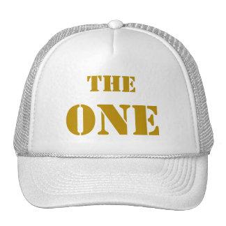 """THE ONE. La gorra del primero """"El uno"""", en ORO"""