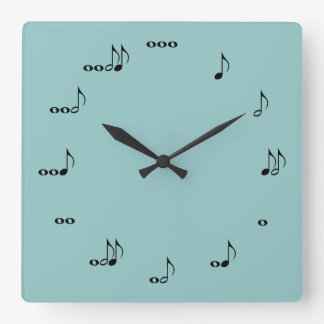 The One Of A Kind Square Music Note Clock