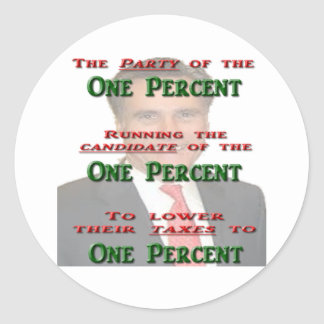The One Percent Round Stickers