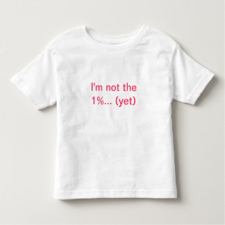 The One Percent T-shirt for toddlers
