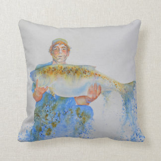 The one that didn't get away throw pillow