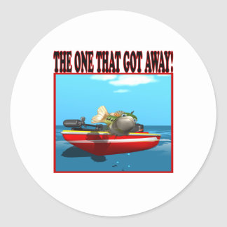 The One That Got Away Classic Round Sticker