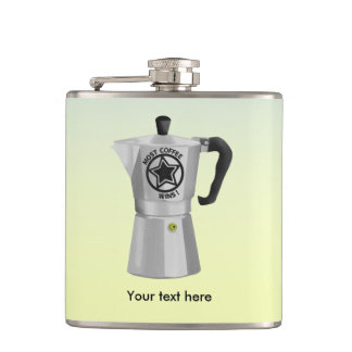 The one who drinks the most coffee wins flask