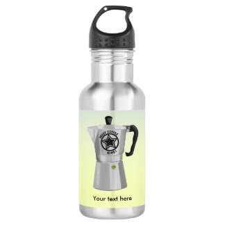The one who drinks the most coffee wins water bottle