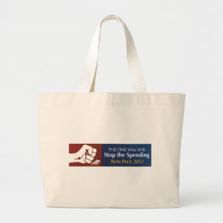 THE ONE Who Will Stop the Spending - Ron Paul 2012 Tote Bag