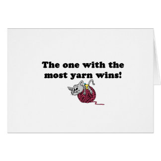The One With The Most Yarn Wins Cards