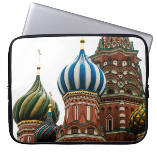 The onion domes of Saint Basil's Cathedral, Moscow Laptop Computer Sleeve