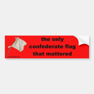 the only confederate flag... car bumper sticker