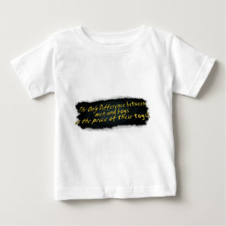 The Only Difference Between Men & Boys.... Baby T-Shirt