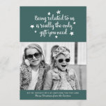 The Only Gift You Need | Holiday Photo Card | Dark