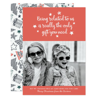The Only Gift You Need | Holiday Photo Card Orange