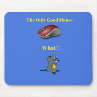 The Only Good Mouse-Blue Mouse Pad with Mice