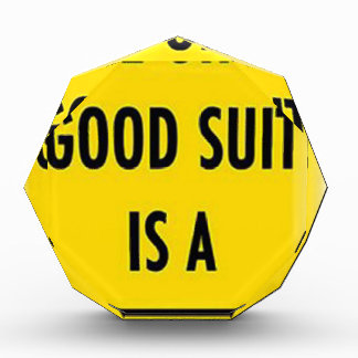 The only good suit is a wet suit acrylic award