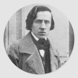 The Only Known Photograph of Frederic Chopin Classic Round Sticker