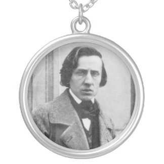 The Only Known Photograph of Frederic Chopin Silver Plated Necklace