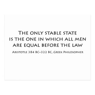 """The only stable state is the one in which... Postcard"