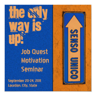 The Only Way is Up Job Quest Motivation Card