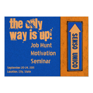 The Only Way is Up Motivation Job Hunt Card