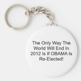 The Only Way The World Will End In 2012 Is If O... Keychain