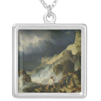 The Onslaught of the Smugglers, c.1837 Silver Plated Necklace