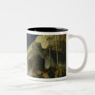 The Onslaught of the Smugglers, c.1837 Two-Tone Coffee Mug