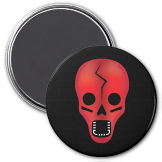 The Oogly Red Skull Magnet