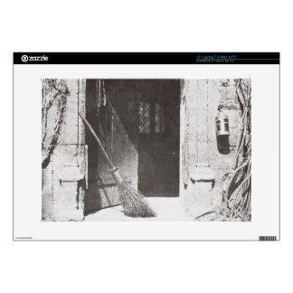 "The Open Door, March, 1843 (b/w photo) 15"" Laptop Decal"