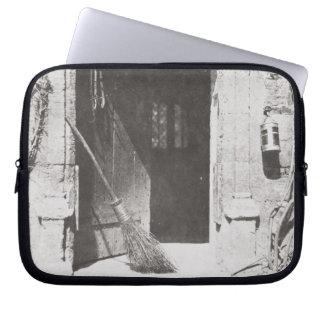 The Open Door, March, 1843 (b/w photo) Laptop Sleeve