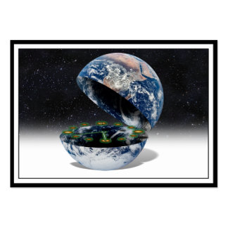 The Open Earth With Clock Large Business Card