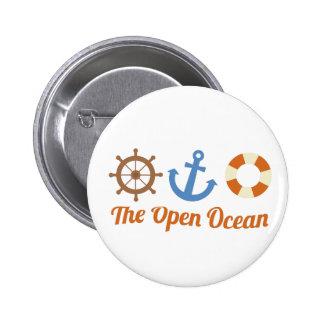 The Open Ocean Pinback Button