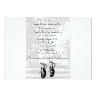 "The Open Road Motorcycle Wedding Invitations 5"" X 7"" Invitation Card"